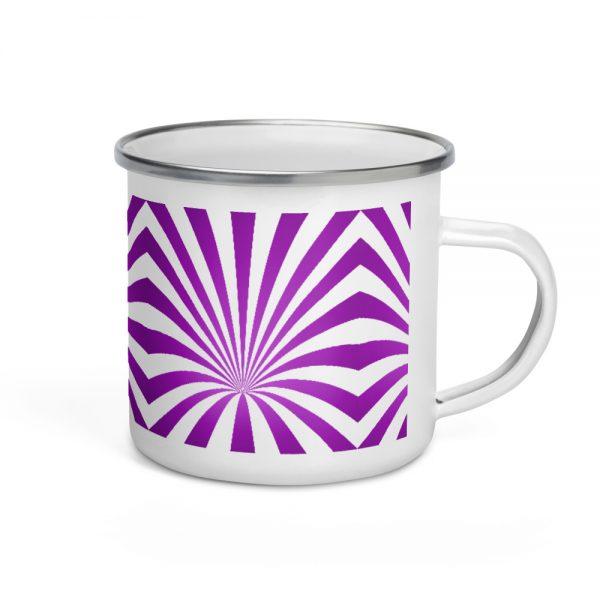 Purple Vortex Enamel Mug